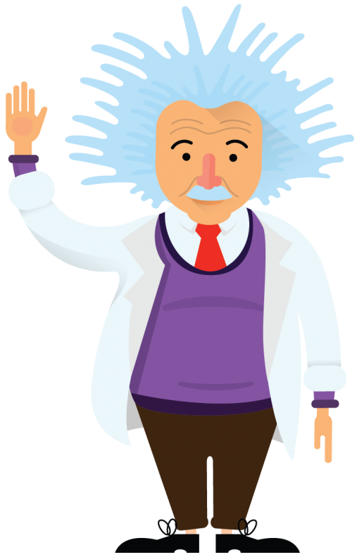 Einstein Waving